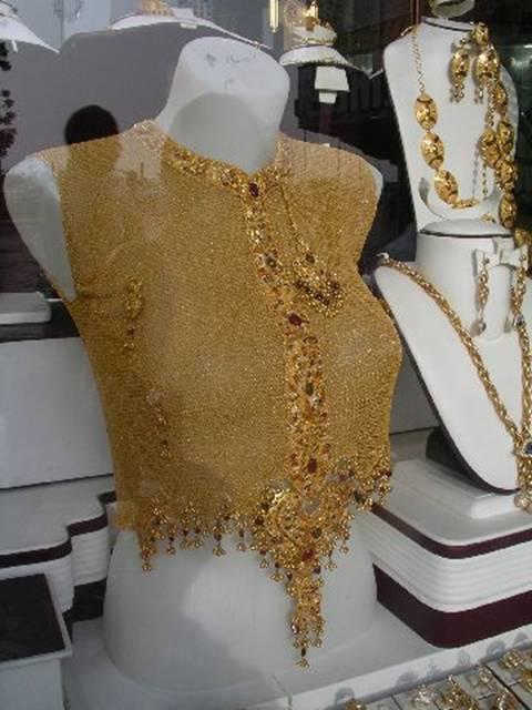 Gold jewellery in Dubai
