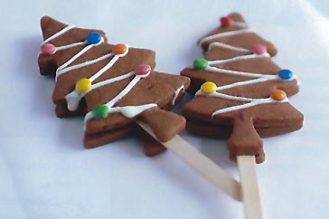 Chocolate Christmas trees recipe